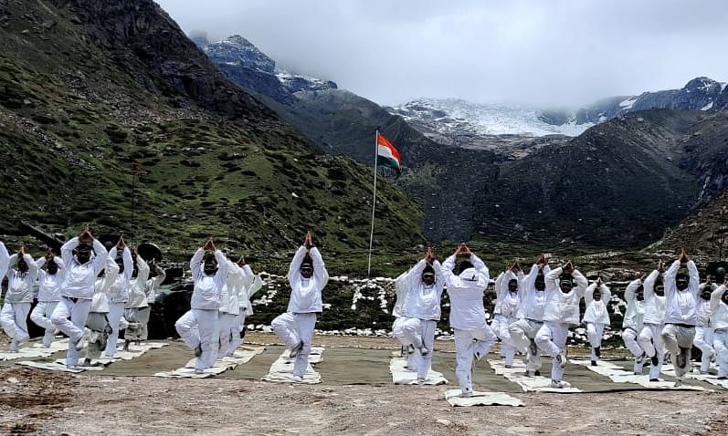 PHOTOS: How Indian, Chinese troops bonded through yoga