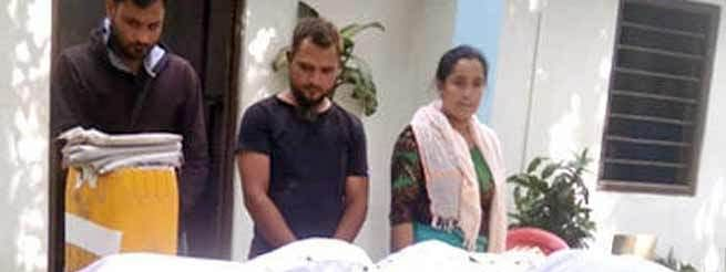 Three persons, including a woman, were arrested from an illegal drugs manufacturing factory in Manipur's Thoubal district