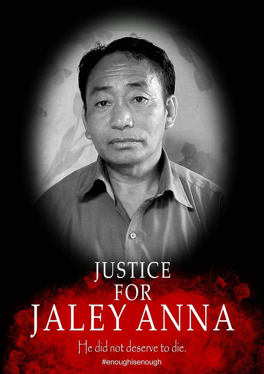 National People's Party worker Jaley Anna was beaten to death at Kheti village in Arunachal Pradesh's Tirap district on March 29
