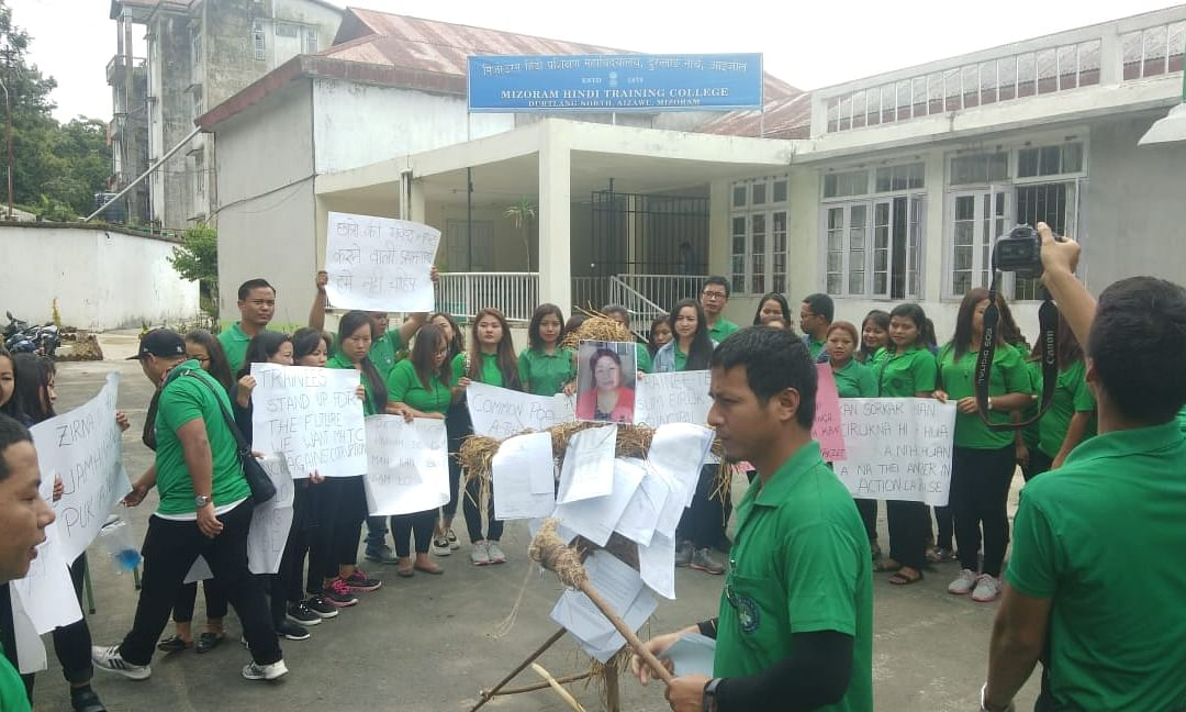 Mizoram Hindi Training College students demand principal's removal