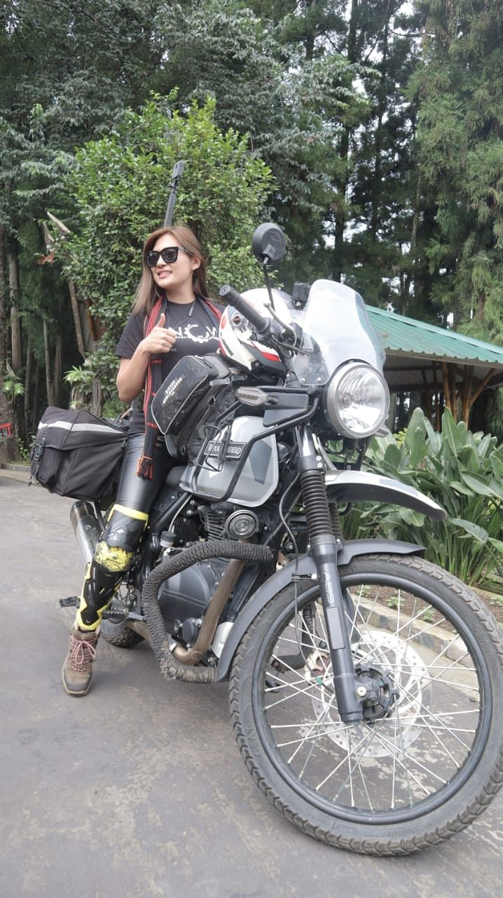 Onen Nenty, 27, wants to spread the message of women empowerment through the solo bike tour