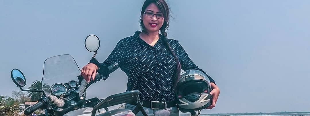 Guwahati biker Nirmali Nath, also known as 'wanderbug.in' among her Instagram followers, spends most of her time on her Royal Enfield
