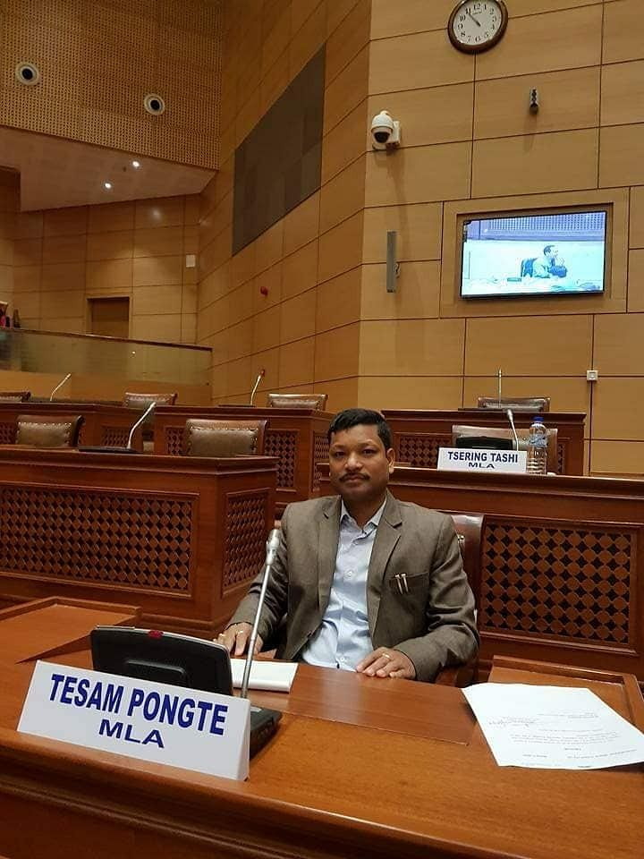 Tesam Pongte, who was elected unopposed as the deputy speaker of Arunachal Pradesh legislative assembly on Tuesday