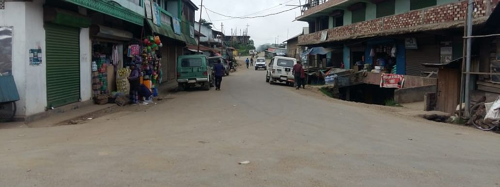 Dungrei Junction connecting Sacred Heart Hr Sec School, Hungpung