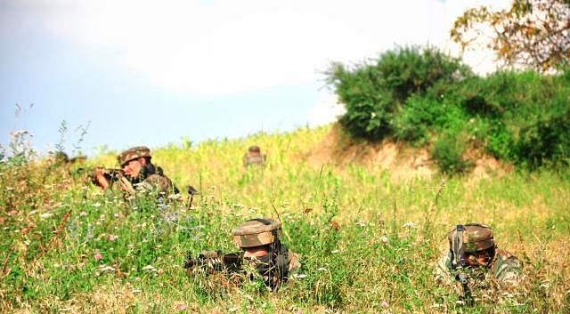 Indian Army in operation along the Indo-Mayanmar border
