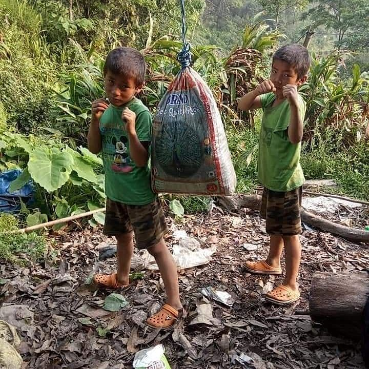 Hailing from a poor family, Sagar and Sajan used cement bags to hone their skills in Muay Thai