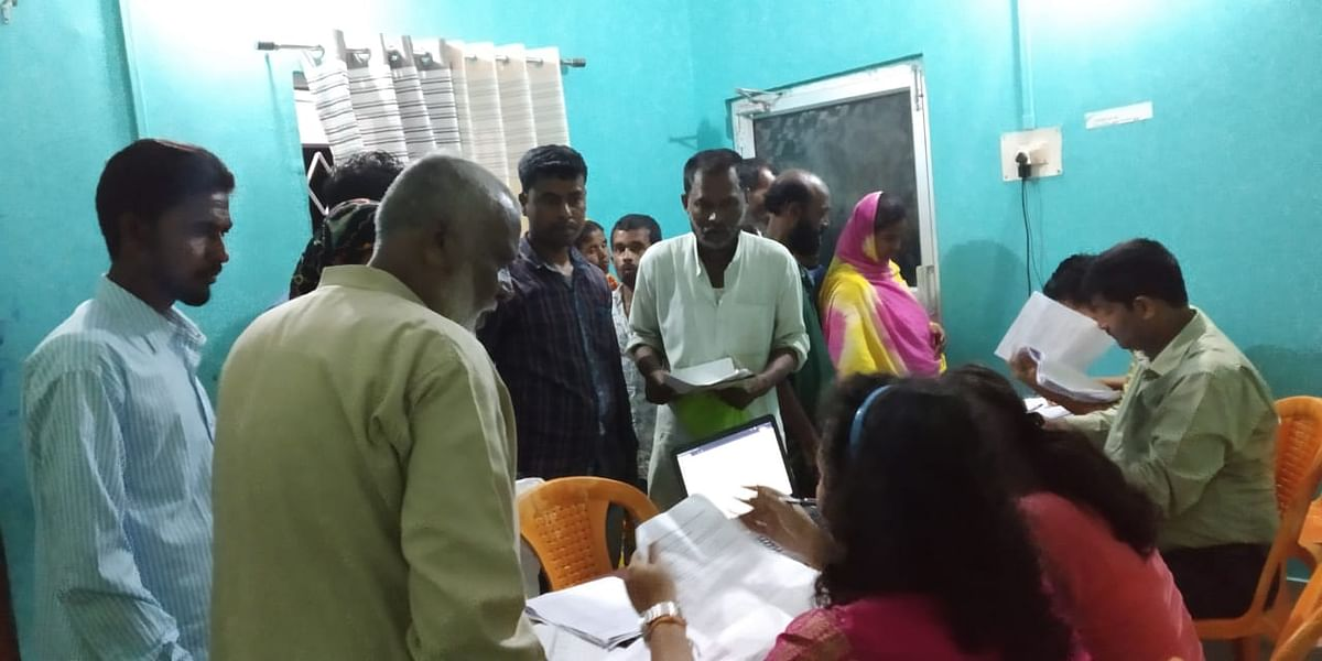 People visiting an NRC Seva Kendra in Assam to find out their names after the state government released an additional exclusion list recently
