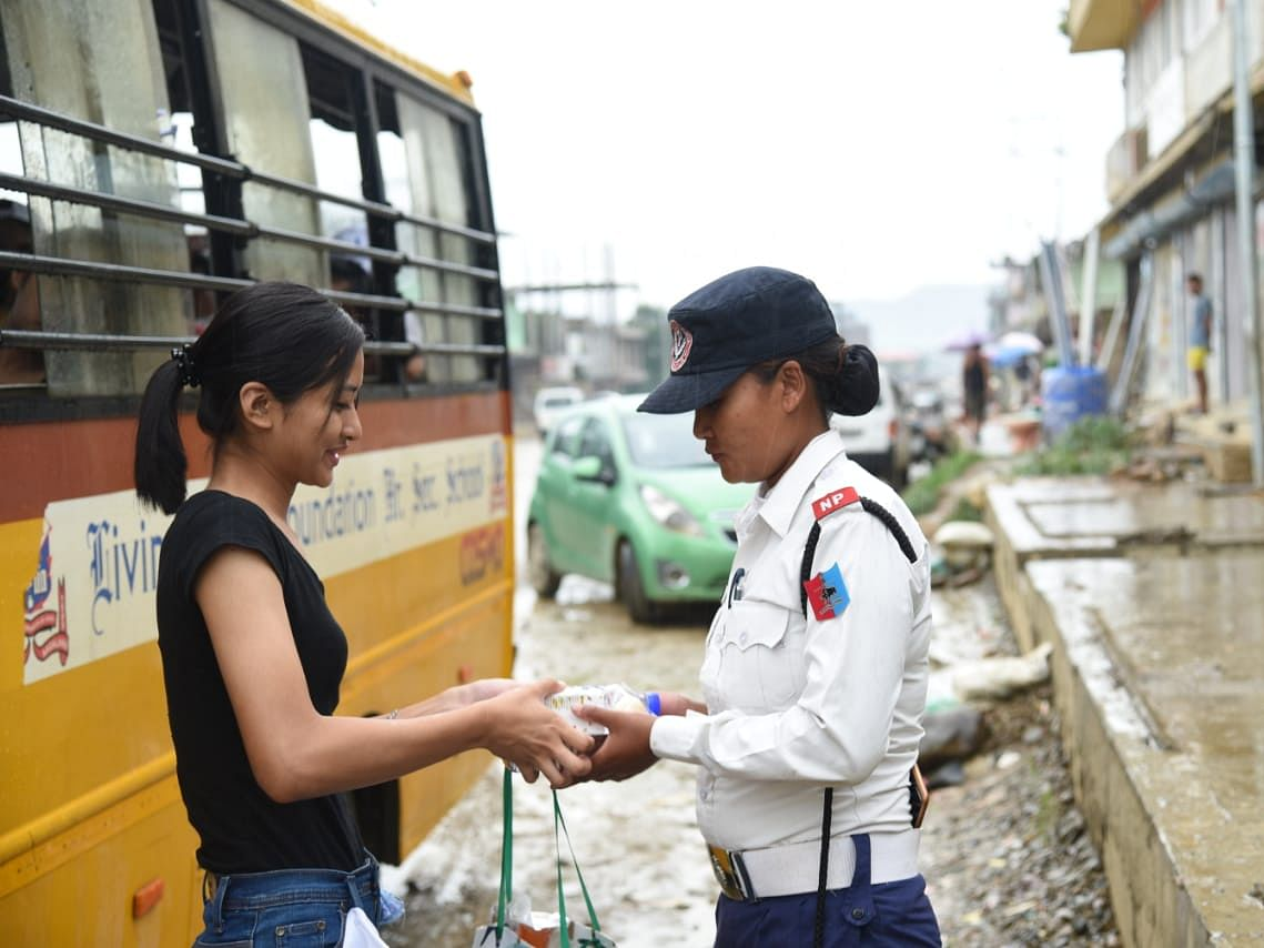 Humans of Nagaland: Dimapur students pep up traffic cops' day