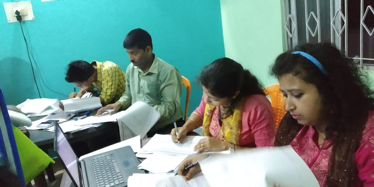 NRC officials busy at a Seva Kendra in Assam
