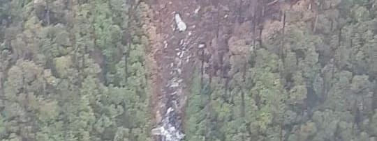 The site of the wreckage in Arunachal Pradesh