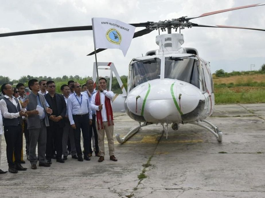 Nagaland minister flags off second helicopter service in state