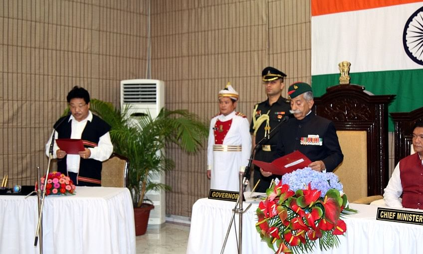 Phosum Khimhun sworn in as pro-tem Speaker of Arunachal assembly