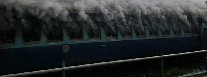 A major fire gutted at least three compartments of the Silchar-Trivandrum Express in Silchar on Sunday