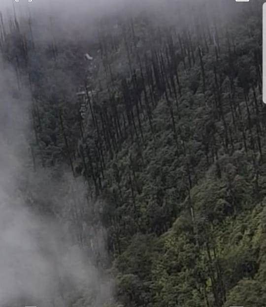 An aerial view of the suspected site in Arunachal Pradesh where the AN-32 aircraft reportedly crashed on June 3