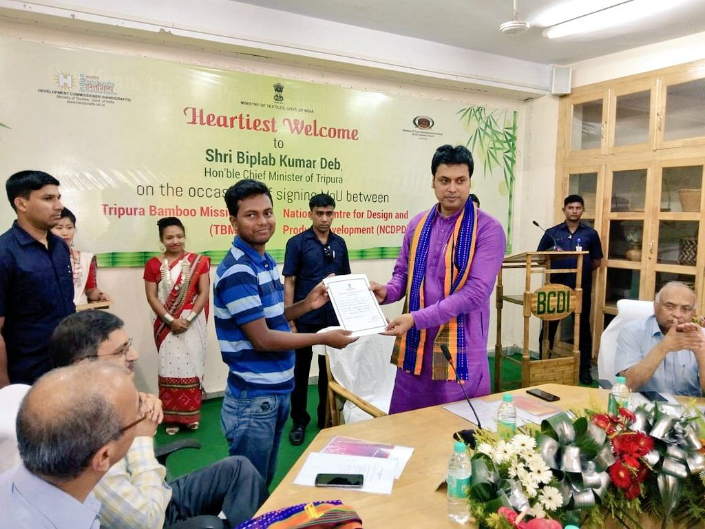 Tripura govt signs MoU to boost bamboo plantation in state