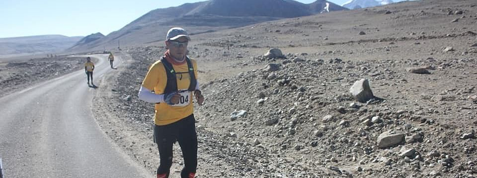 The 42.1-km marathon took place at an altitude of 17,800 ft above sea level