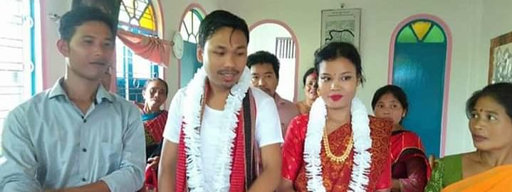 Raima Valley MLA Dhananjoy Tripura tied the knot with the complainant at Chaturdas Devta Mandir at Khayer in Agartala on Monday
