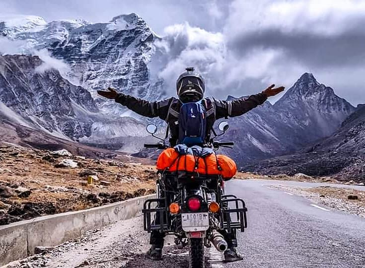 Assam biker Nirmali Nath, 37, started her first ride from Guwahati to Leh-Ladakh in July 2016