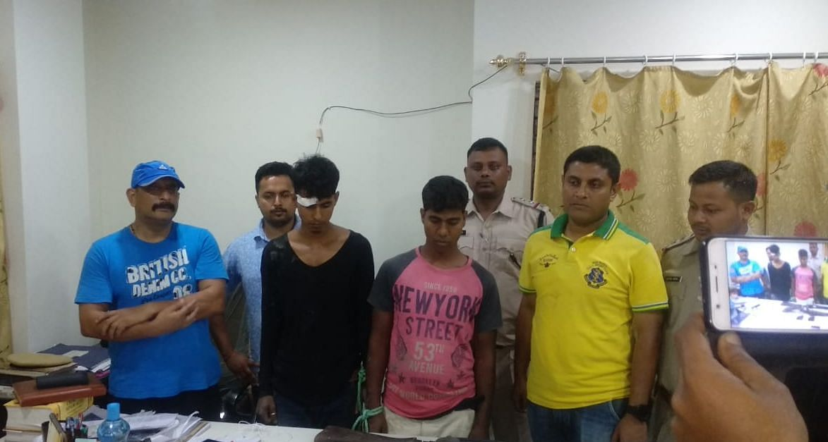 The poachers were arrested from National Highway 15 near Cristal Maze of Baghamari area of Biswanath District