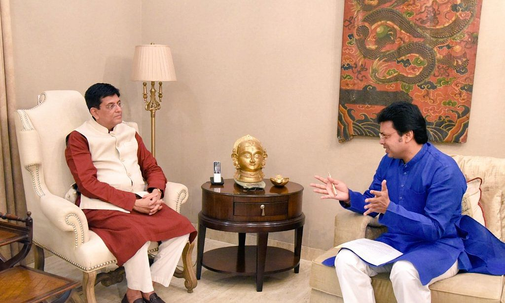 Why Tripura CM  wrote a letter to railway minister Piyush Goyal?