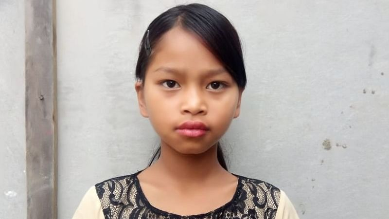 Caroline Malsawmtluangi, a Class IV student of Muana Primary School, who became an Internet sensation after rescuing a seven-year-old girl in Aizawl, Mizoram