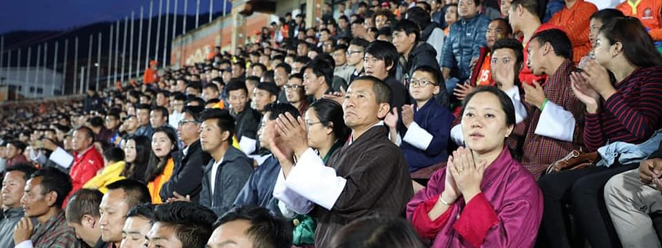 During the match against Guam on Thursday, Bhutan Prime Minister Lotay Tshering was seen cheering for the national team from the stands along with the general public