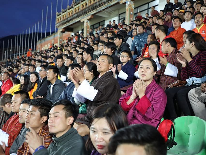 That's the Bhutan PM sitting among public during FIFA qualifier!