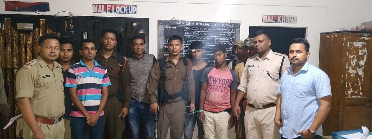 Two notorious rhino poachers, Mohammed Habit Ali and Mohammed Abdul Sohid, were arrested on Friday evening