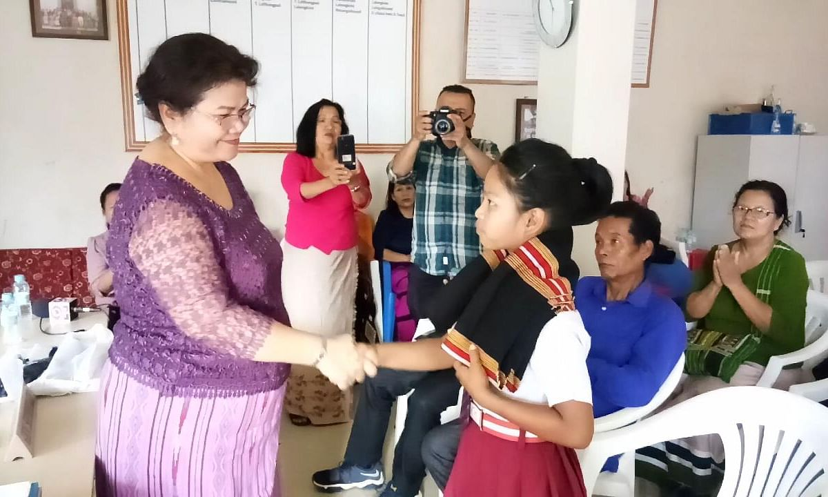 Brave Mizoram girl who rescued child from abductors honoured