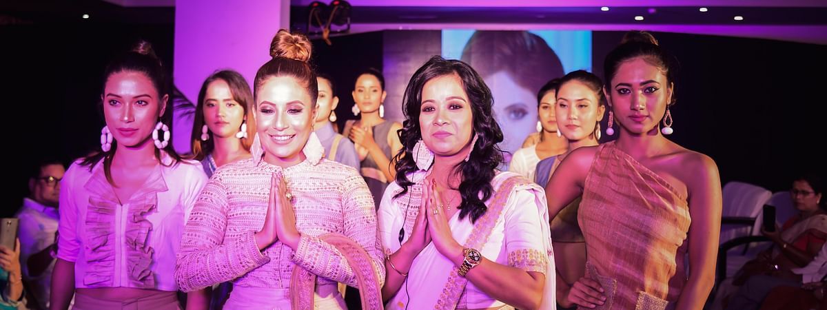 Papli Gogoi (centre, right) of Fashion Bloom was one of the organisers of the show