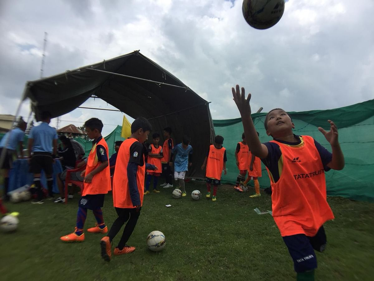 Budding footballers as young as five years are participating in the Ukhrul FC Baby Cup in Ukhrul, Manipur