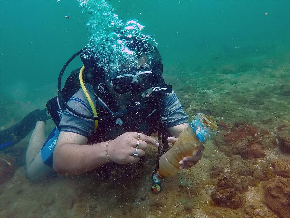 Assam professor dives deep into Arabian Sea to clear plastic waste
