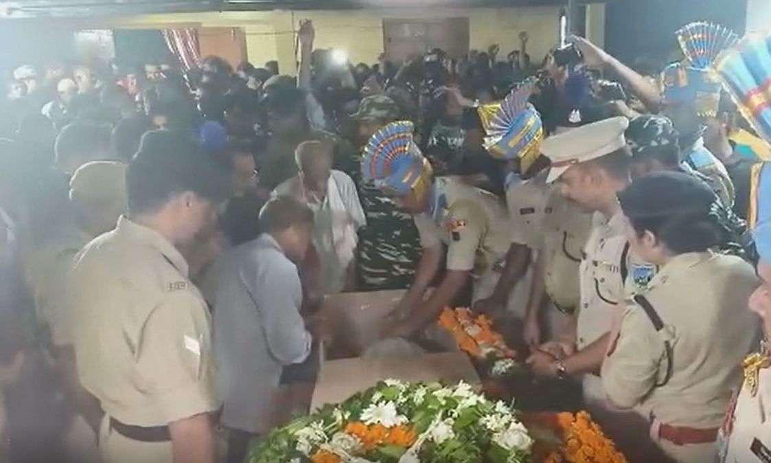 Assam bids adieu to  slain CRPF ASI Nirod Sarma with state honours