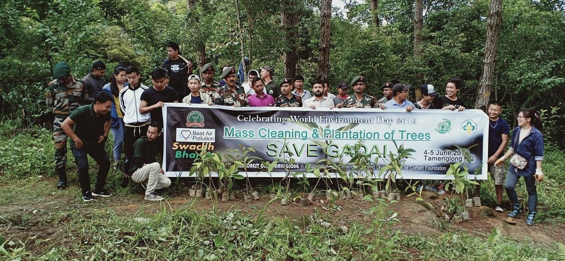 Mass cleaning and plantation of trees conducted in Tamenglong district