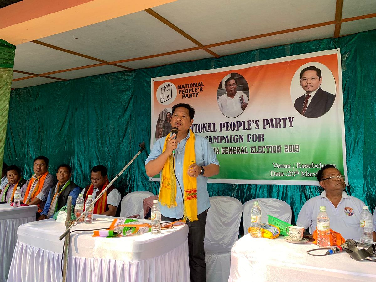 CM Corad K Sangma at the first cabinet meet of state government in Tura constituency of West Garo hills