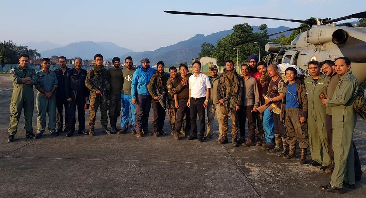 Taka Tamut near the crash site of the IAF AN-32 aircraft in Arunachal Pradesh's Siang district