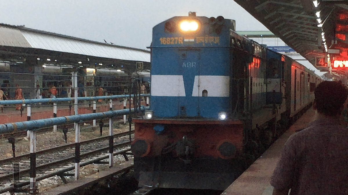 A train packed with pilgrims reaches Kamakhya station in Guwahati on Thursday