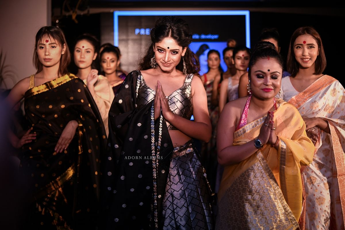 A number of designers came together to put up a grand show in Guwahati on Saturday