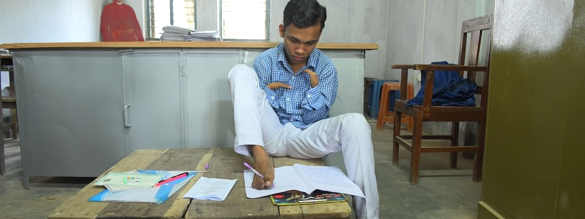 Pralay Dey wrote this year's Class X board exams using only his feet