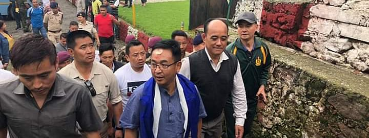 Sikkim PS Golay during his visit to the Rongyek Central Jail on Sunday