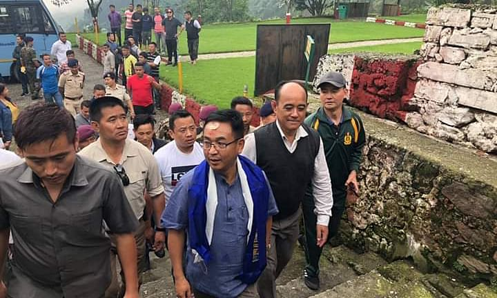 Sikkim CM PS Golay visits jail where he was inmate for a year