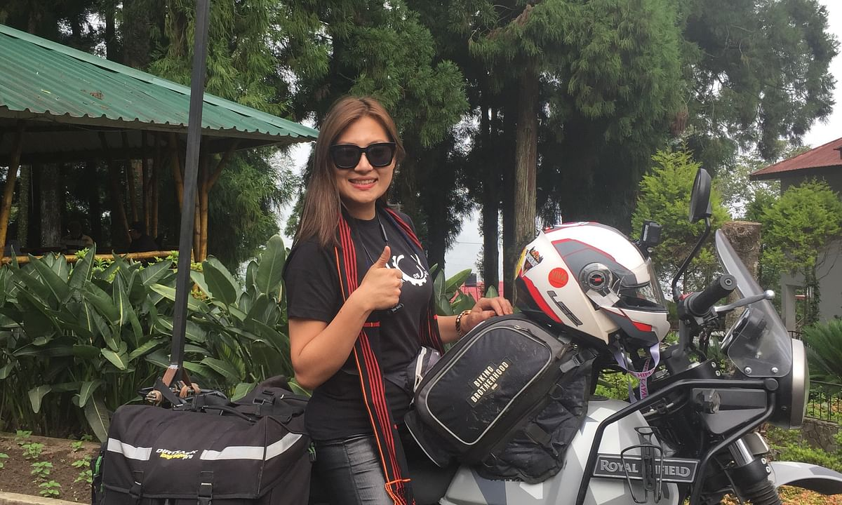 Naga girl on solo bike tour to spread message of women empowerment