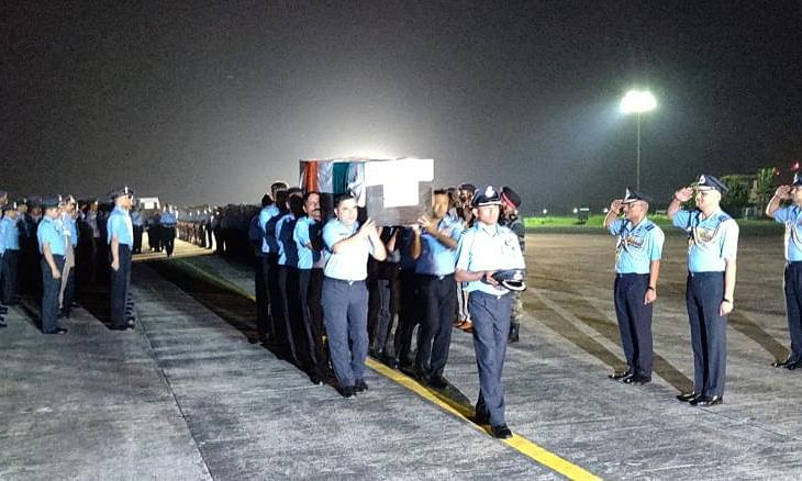 PHOTOS: Mortal remains of AN-32 crash victims brought to Jorhat
