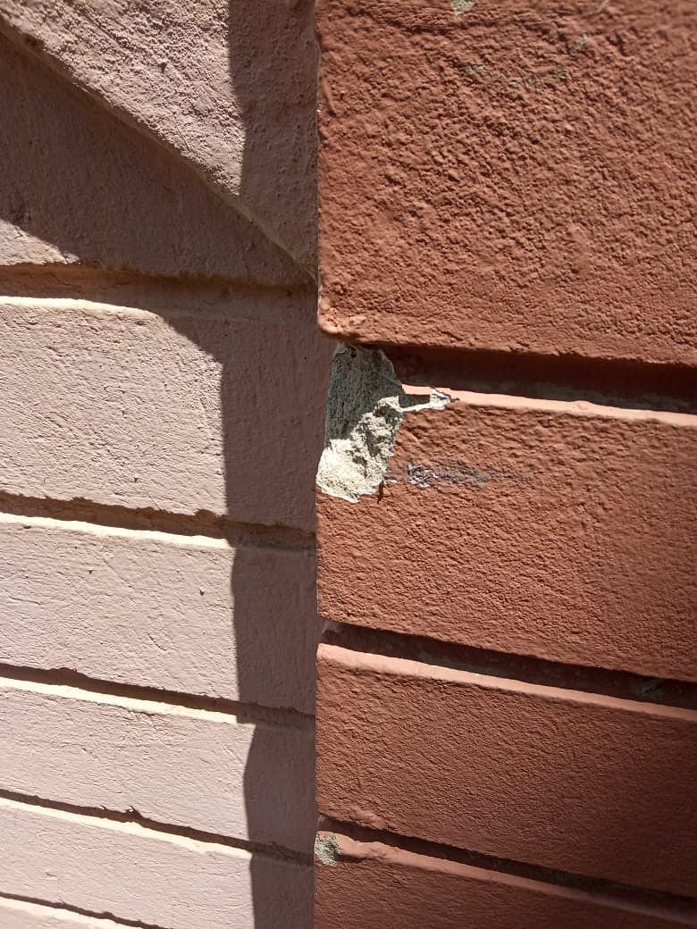 One of the bullet shots that hit the wall of NDPP secretary general Abu Metha's residence on June 5