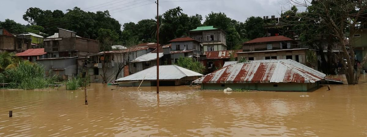 Incessant rainfall hit Mizoram since Monday, triggering landslides and floods in different parts of the state