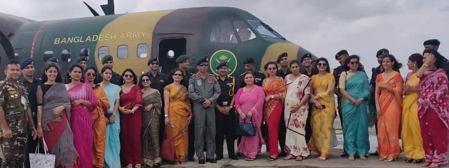 The Indian Army delegation members were airlifted from Kolkata on July 6 by a service aircraft of Bangladesh Army