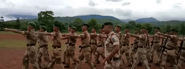 In a video that has now gone viral, security personnel of the 9th IRBn in Phek, Nagaland are seen marching to 'Dhal Gaya Din' from the 1970 film 'Humjoli'