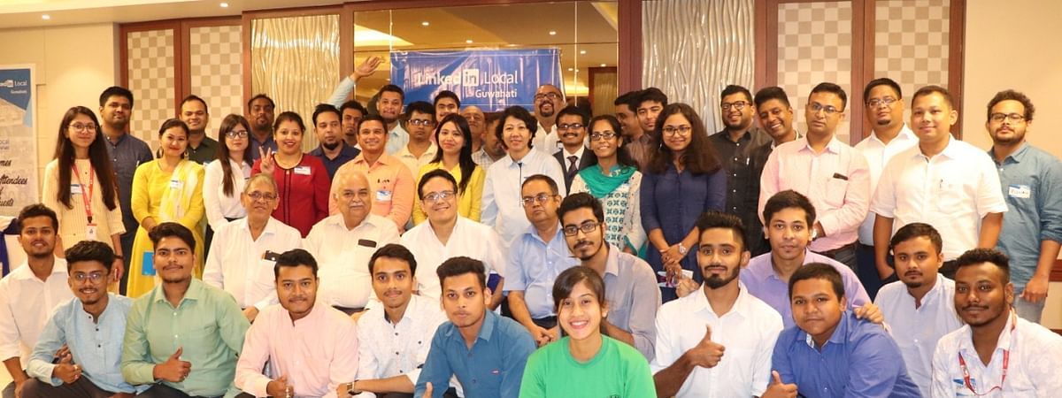The attendees of the first 'LinkedIn Local' organised in Guwahati, Assam on Saturday