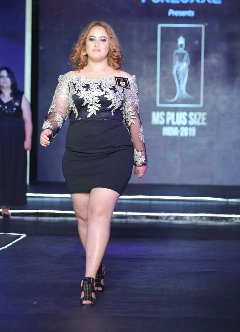 Sushmita Sen, 21, represented Sikkim at Ms Plus Size India-2019 held in New Delhi recently