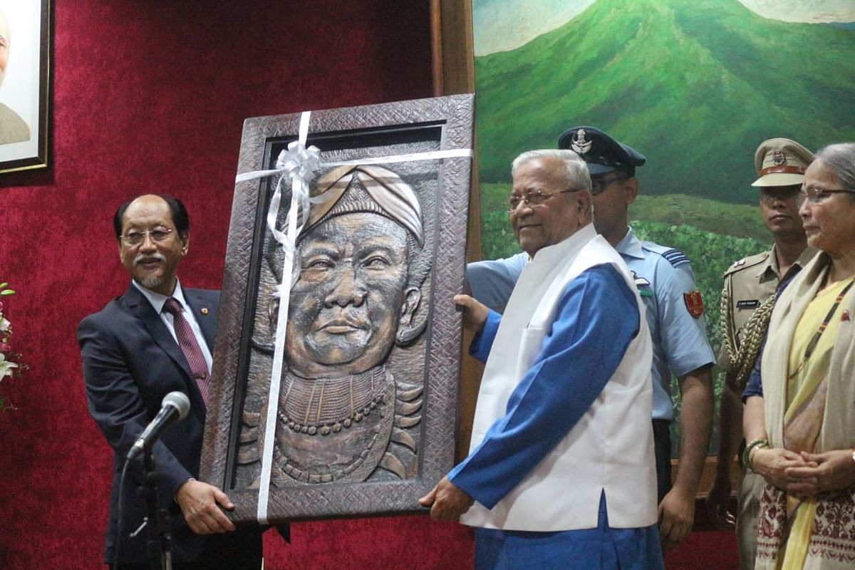 Nagaland chief minister Neiphiu Rio (left) lauded PB Acharya for being the 'people's governor' and opening up the Raj Bhavan to all sections of society